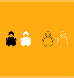 old woman it is white icon vector image vector image