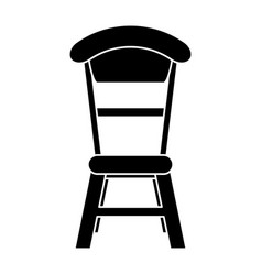 wooden chair vintage pictogram vector image