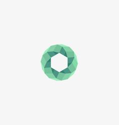 abstract round swirl logo design universal vector image