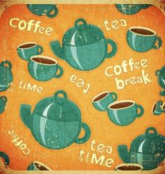 coffee break retro vector image vector image