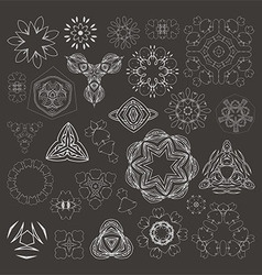 Henna tattoo doodle elements on white background vector image