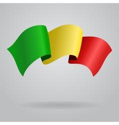 Malian waving Flag vector image vector image