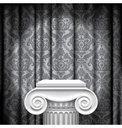 Capital on gray background vector image vector image