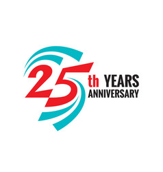 Creative emblem twenty five years anniversary vector