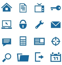 Icons set for web and mobile apps vector image vector image
