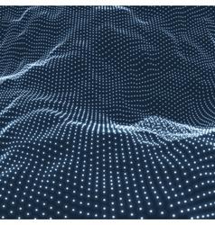 Landscape Background Terrain Cyberspace Grid vector image vector image
