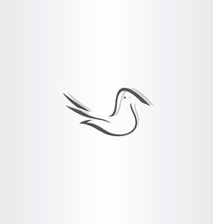 stylized dove icon design element vector image vector image