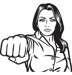 Woman Punching vector image vector image