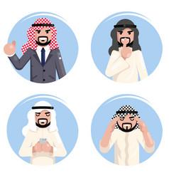 arab businessman working decision making set vector image