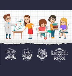 back to school time chemistry class image vector image