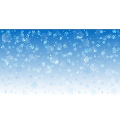 background falling snowflakes vector image
