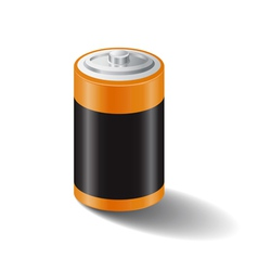 Battery icon white bg vector