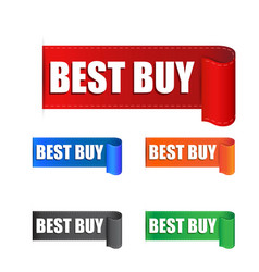 best buy sticker label on white background vector image