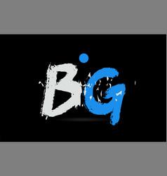 Blue white alphabet letter combination bg b g vector