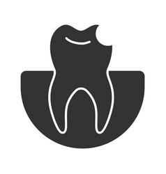 broken tooth glyph icon vector image