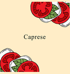 Caprese in cartoon style vector