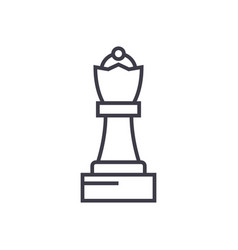 chess queen line icon sign vector image vector image