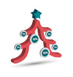 christmas tree chart vector image