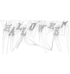 Cobweb isolated on white spiderweb for halloween vector
