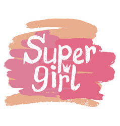 Colorful with words super girl vector