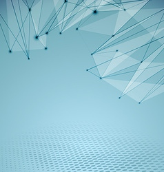 Connectivity abstract web hi-tech background vector image