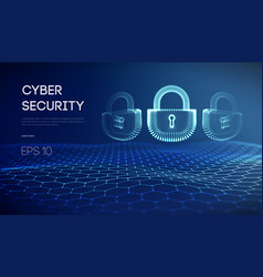 coputer internet cyber security background cyber vector image