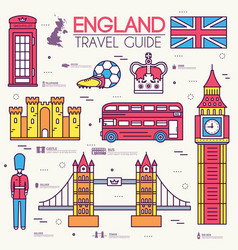 country england travel vacation guide of goods vector image