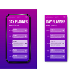 creative of phone day planner vector image