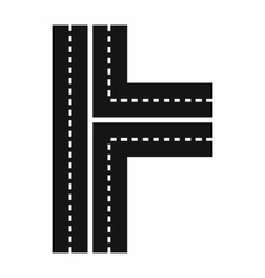 Crossroads icon in simple style vector image