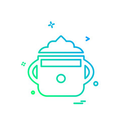 cup icon design vector image