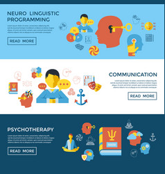 digital neuro linguistic programming vector image
