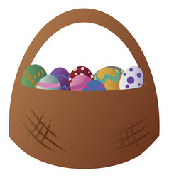 easter bucket vector image