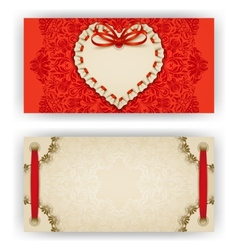 Elegant template for luxury invitation card vector