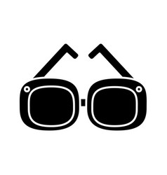 fashion glasses isolated vector image