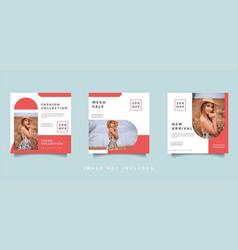 fashion social media promotion design layout vector image