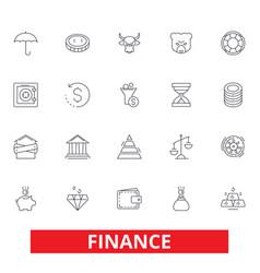 finance save money investor cash bank vector image vector image