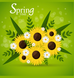 flower bouquet in springtime vector image