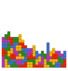Game Brick Tetris Template on White Background vector