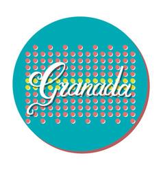 granada hand lettering vector image