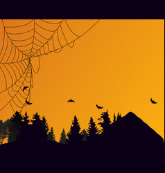 halloween background template with empty place vector image