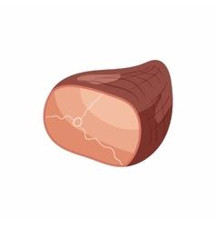 Ham icon in cartoon style vector