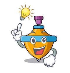 Have an idea spinning top mascot cartoon vector