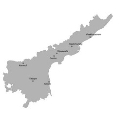 High quality map state of india vector