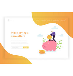 investment financial growth landing page template vector image