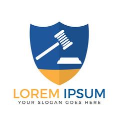 Law shield logo design vector