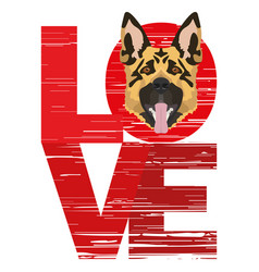 Love shepherd vector