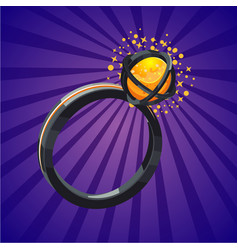 magic fantasy ring video game assets design vector image