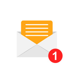 mail envelope icon in flat style email message on vector image
