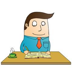 Man writing book vector image