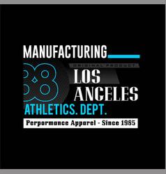 Manufacturing 88 los angeles athletic dept vintage vector